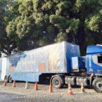 Unidade móvel de treinamento pela primeira vez no nordeste